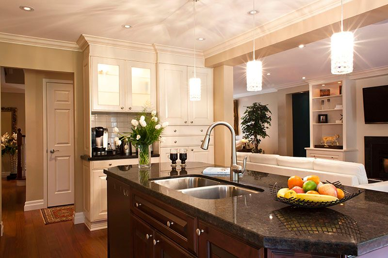 Big Kitchen with Marble Tops