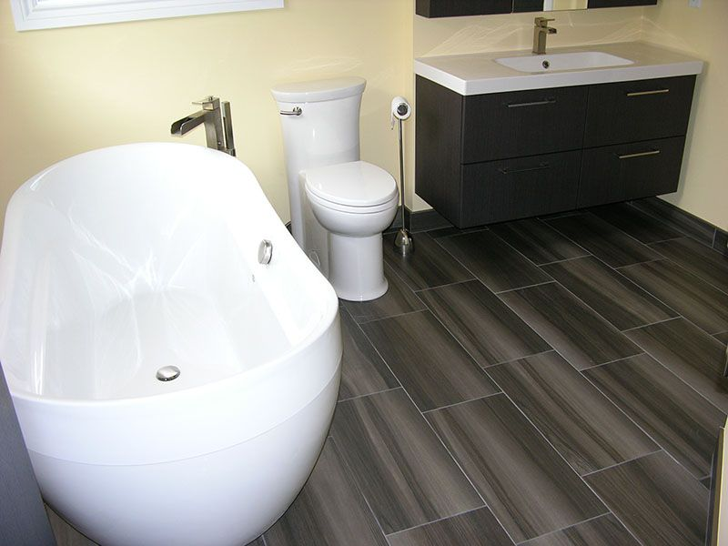 Bathroom with Tile Flooring